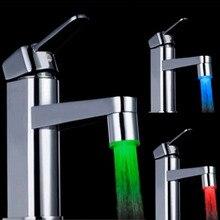 Светодиодный светильник для водопроводного крана, 7 цветов, меняющий свечение, душевой поток, датчик давления, аксессуар для кухни и ванной комнаты