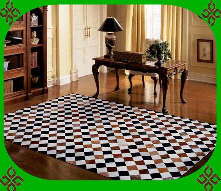 Fashionable art carpet 100% natural genuine cowhide leather fur rugsFashionable art carpet 100% natural genuine cowhide leather fur rugs