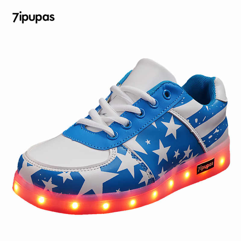 Kids LED Light Up Flashing USB Casual Shoes Trainers Sneakers For Boys//Girls Lot
