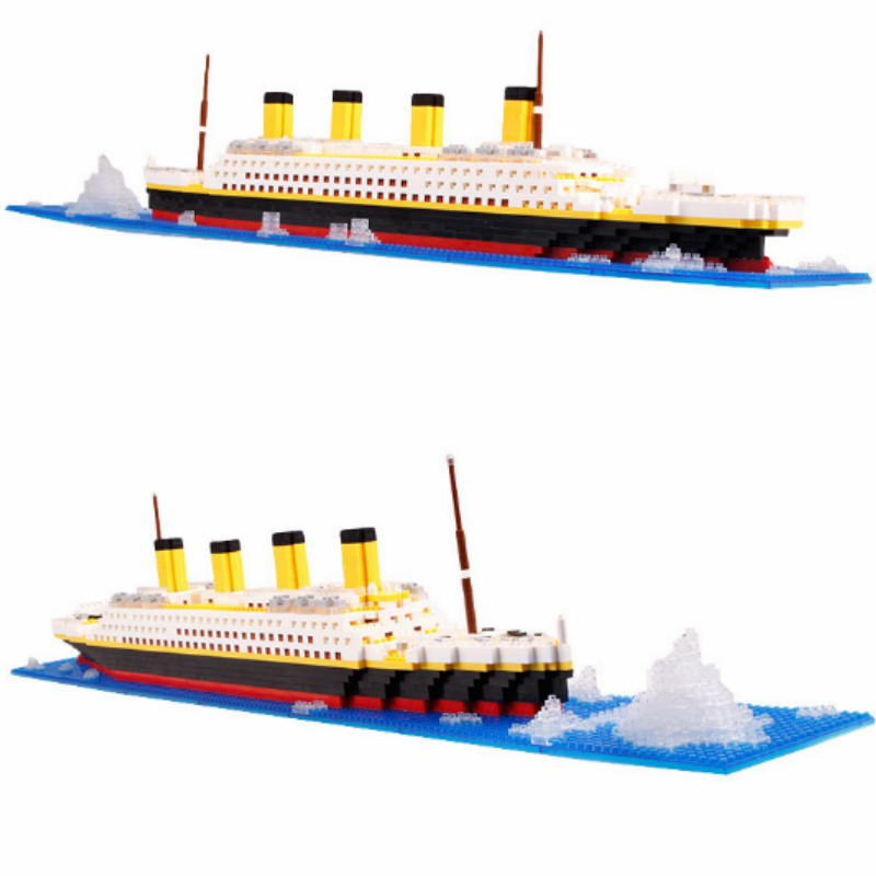 All kinds of cheap motor 1860pcs titanic cruise ship building bricks