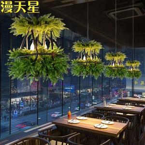 Image 2 - LED Hanging Gardens of Babylon Plants Lamp Pots Potted Nordic Tom Creative Chandelier Lighting Bulb Art Pendant Lamp With Bulb