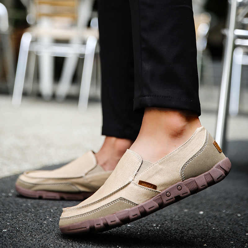 2019 new zapatos de hombre men sneakers casual canvas shoes breathable Slip On Breathable summer Loafers Chaussure Homme