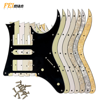 Pleroo Guitar parts pickguards with screws suit for Ibanez RG 350 MZ Japan MIJ Guitar Pick guard Music Replacement Accessory ibanez os rd offspring model pick