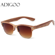 ADIGOO Fashionall-Match Wood Sunglasses Female Sunglasses Women Vintage Retro Designer Fashion Sunglass Men Retro Sun Glasses