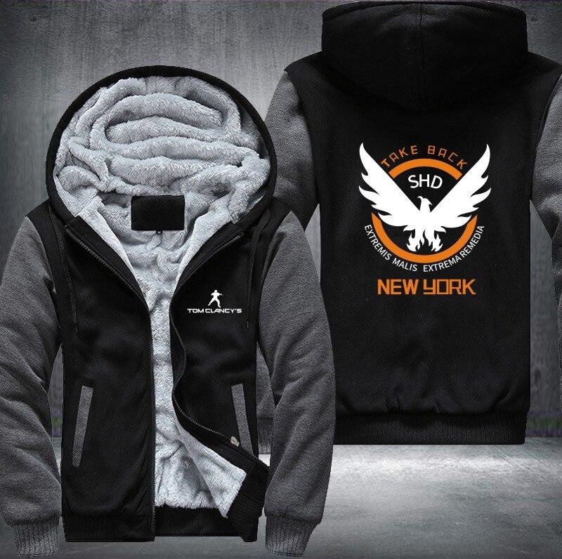 Nouveau Tom Clancy la Division hommes femmes impression motif épaissir polaire sweats à capuche livraison gratuite USA taille