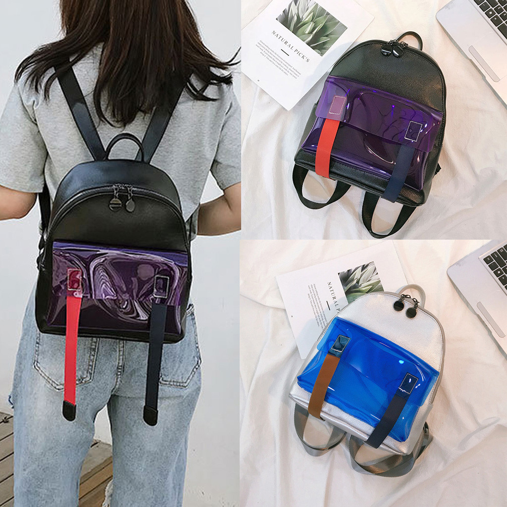 Designer Women Student Multi-User Travel Couple Bag  Youth Leather Bag