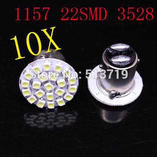 2014 new 10X 1157 BAY15D 22 SMD P21/4W P21/5W 7528 Car LED Brake Turn Light Automobile auto Wedge Lamp Car Styling xenon white