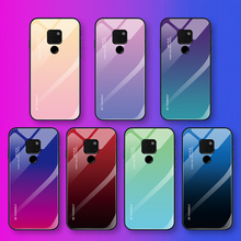 Gradient Tempered Glass Phone Case For Huawei Mate 20 Pro Painted Layer Lite Coque Capa Mate20