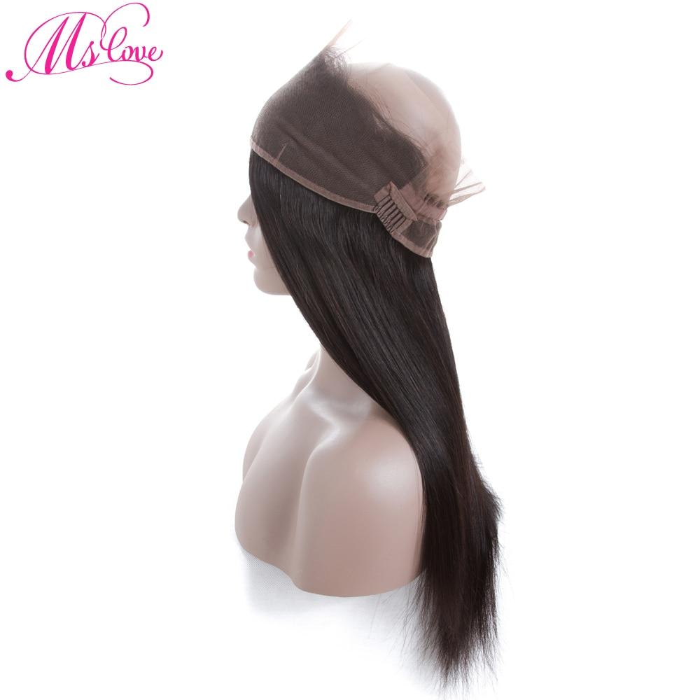Mslove 360 Lace Frontal With Bundles Peruvian Straight Hair 2 - Skönhet och hälsa - Foto 5
