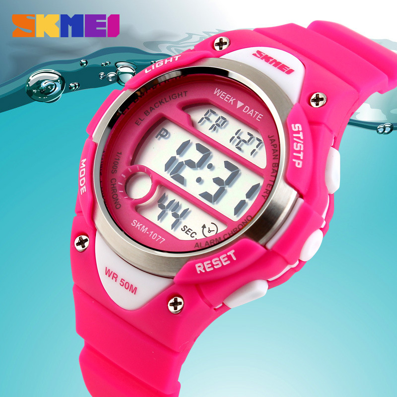 Children Watches Cute Kids Watches Sports Cartoon Watch For Girls Boys Rubber Children's Digital LED Wristwatches Relojes SKMEI