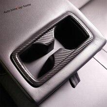 Yimaautotrims Rear Water Cup Holder Decoration Cover Trim Fit For TOYOTA RAV4 RAV 4 2019 / Carbon Fiber ABS Interior Mouldings цены