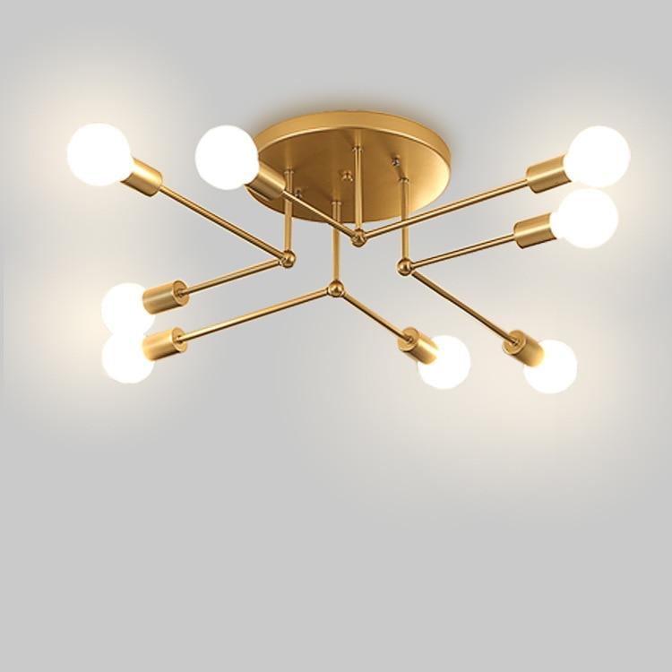 Gold/black Iron 6/8 Branching Bubble Chandelier 220v Modern Chandelier Light Living Room Chandelier Lighting цена
