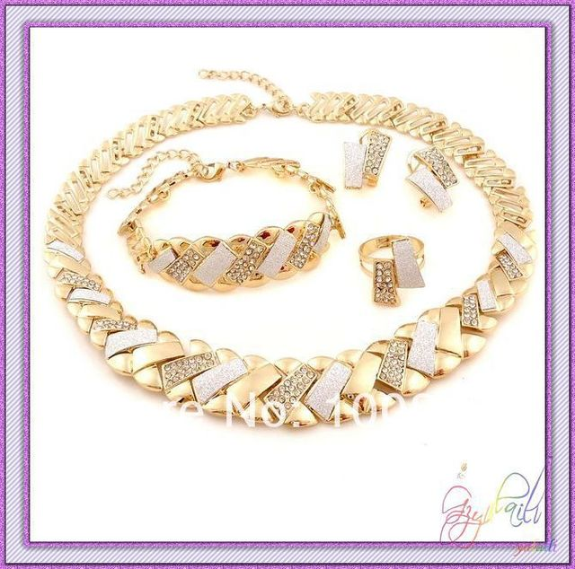 dubai gold jewelry set wedding jewellery designs European style