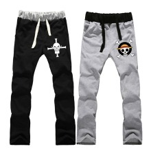 Anime One Piece White beard pirates regiment LOVERS pure cotton pants sports casual trousers cosplay gift NEW Fashion