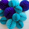 5pc 6inch(15cm) Tissue Paper Honeycomb Ball Decorations for Birthday Party Baby Shower Wedding Aniversary Home New Year Decor