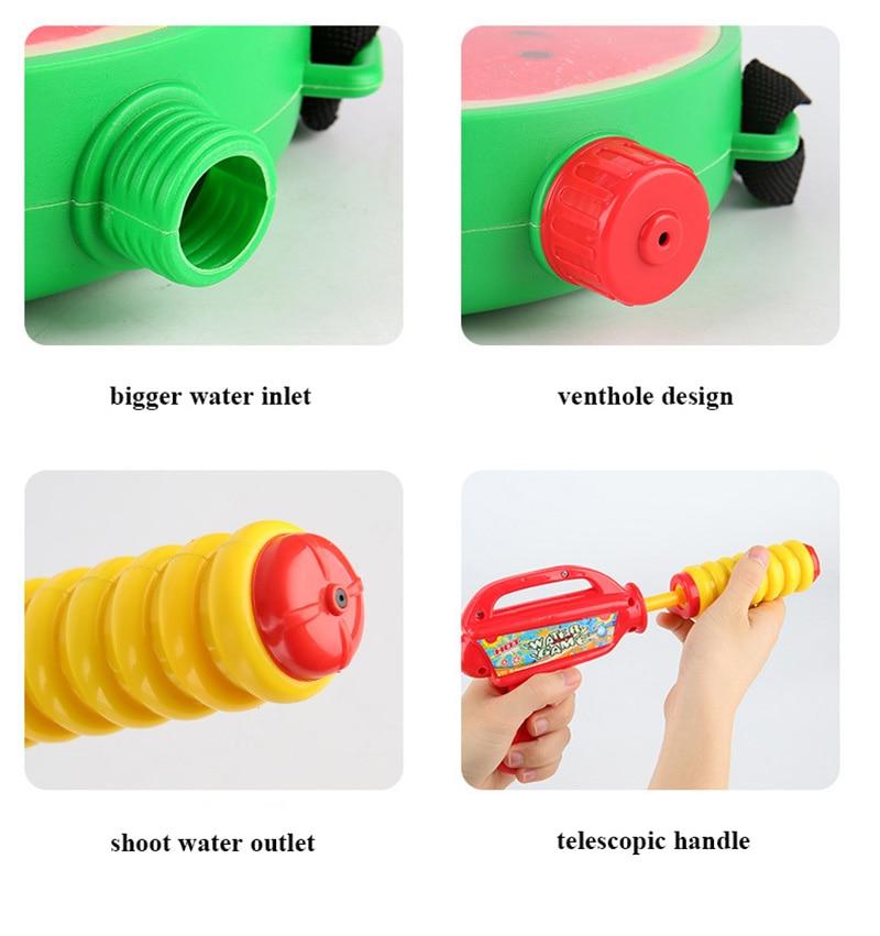 1pcs Creative Fruits Water Gun Toy Outdoor Games Summer Kids Beach Kiwi Lemon Backpack Water Guns Spray Toy Manual Pressure Toy (9)