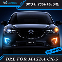 Car Daylight for 2012 2016 Mazda cx 5 cx5 LED Daytime Running light with yellow turn signals and blue night running light