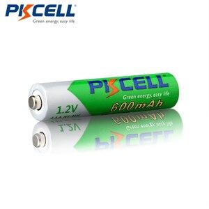 Image 3 - Promoção pkcell 50 pçs/lote 1.2 v 600 mah aaa nimh bateria recarregável ni mh baixo auto descarregado pré carregado baterias