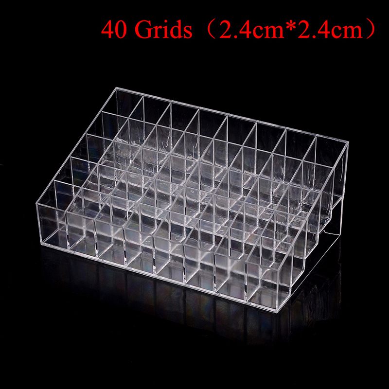 40/36/24 Grids Multifunctional Lipstick Stand Case Home Bedroom Cosmetic Makeup Tools Organizer Holder Plastic Box