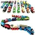Деревянный Магнитный Томас Поезд Цирка Дональд Леди Гордон Друзья Грузовой Автомобиль Трек Железнодорожные Транспортные Средства Diecast Toys для детей GYH