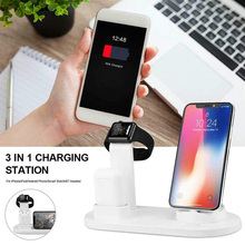 Multi-function Safety Wireless charger 3 in 1 phone watch headset charging bracket for Apple watch aripods plastic charging base the new listing of the exclusive sales of apple mobile phone support iwatch watch charging base high grade plastic free shipping