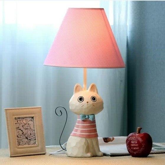 Fabric Lampshade Cartoon Cat Wedding/ Birthday/New Year's Gifts Kids/Child Decoration Table/Desk Lights Lamp Indoor Lighting