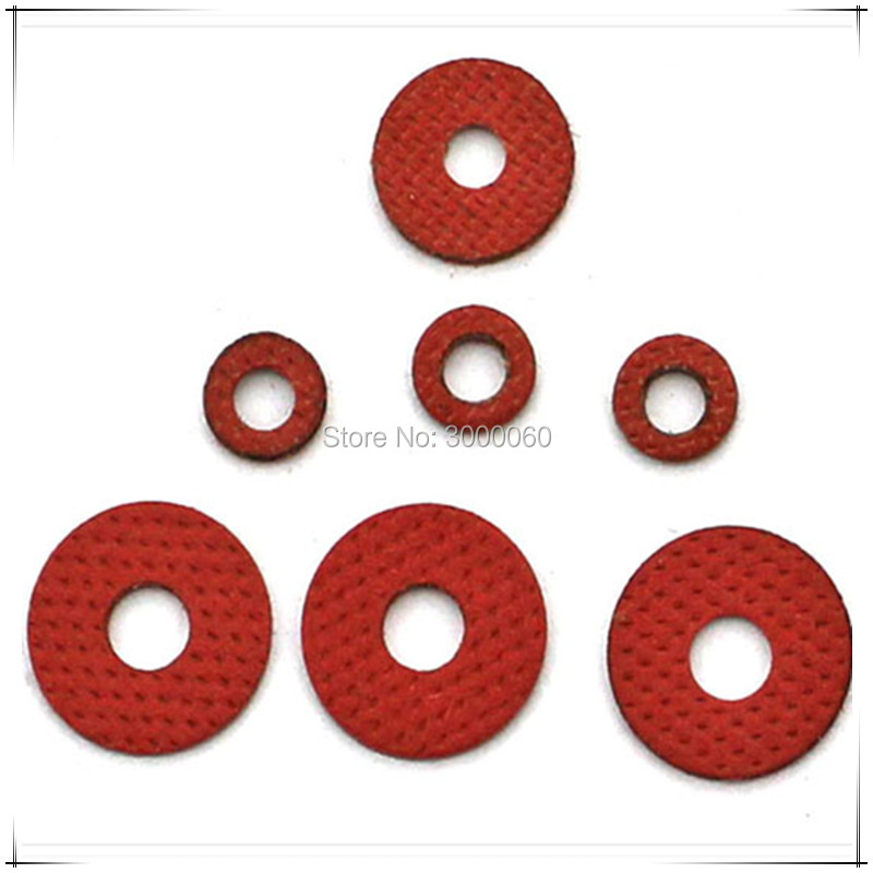 <font><b>M3</b></font>*<font><b>10mm</b></font>(OD)*0.5mm(Thickness) Red Steel Paper Insulation Spacer Gasket Washer <font><b>1000pcs</b></font>/lot image