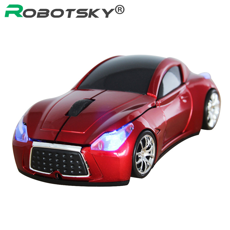Robotsky Wireless Mouse 2.4G Infiniti Sports Car Computer Mice 1600 DPI Optical Gaming Mause For Laptop Notebook
