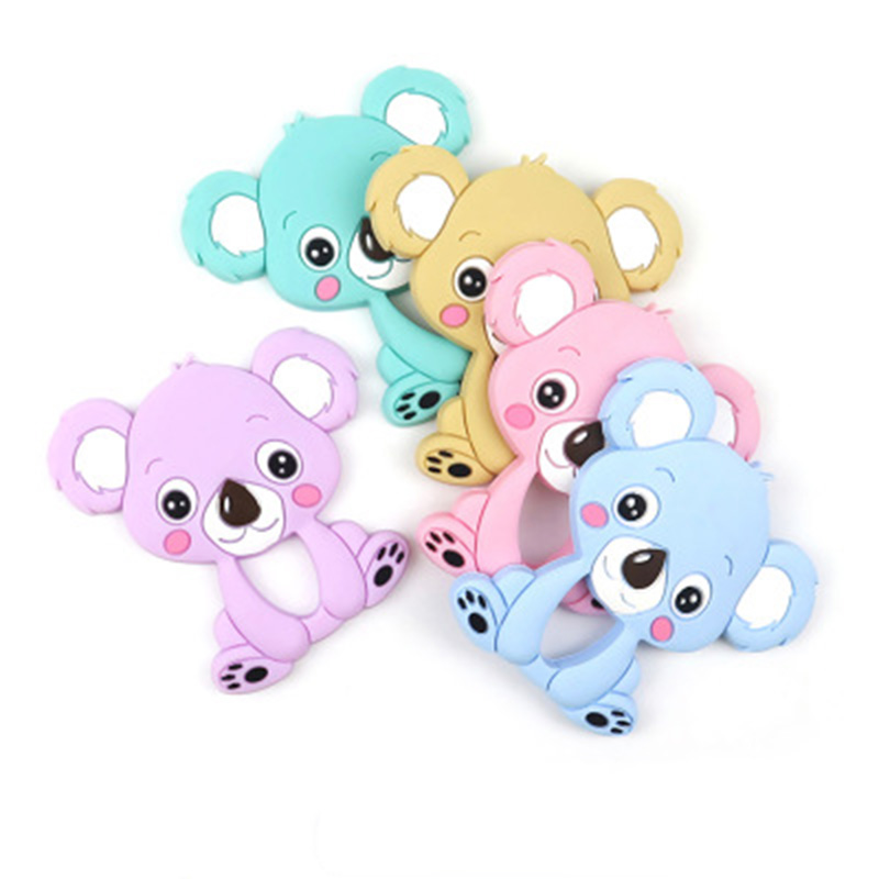 Teether Tooth Gum Baby Koala Animal  Grinding Rod Children Gift Silicone Products Maternal And Child Supplies