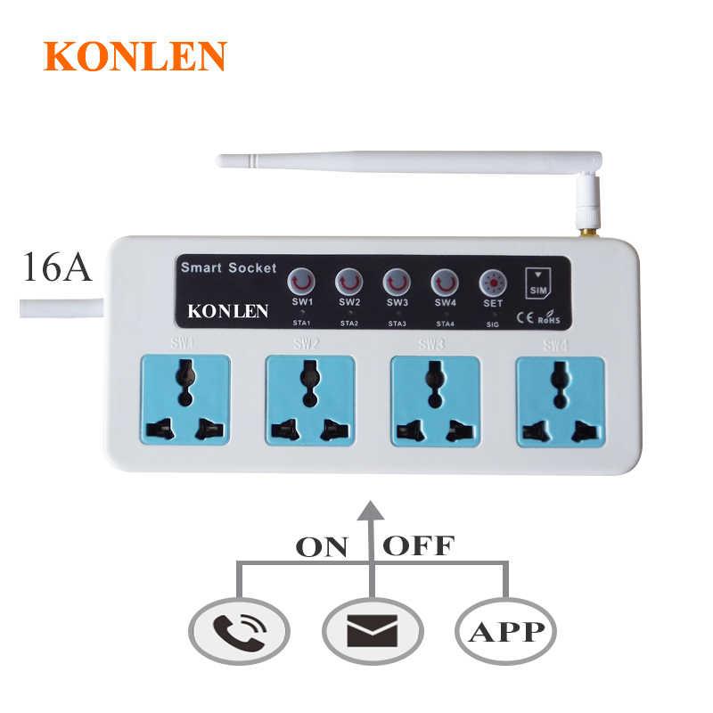 Умный GSM переключатель 4 гнезда дистанционного управления по SMS вызову для бытовой техники вкл/выкл настройка температуры EU UK US Plug