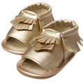 Silver/Gold baby girl Sandals princess prewalker shoes soft sole shoes first walkers girl leather Boots toddler tassel shoes W1