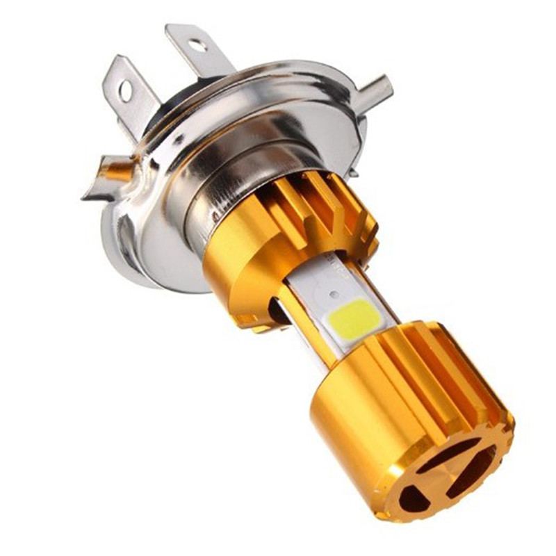BA20D / H4 LED COB Motorcycle Bike Hi/Lo Headlight Lamp Bulb DC10-80V 6000K 16W Motorcycle Headlight Bulbs Motorcycle Light