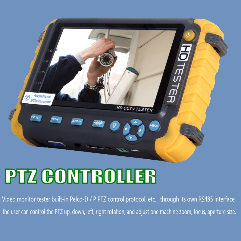 Image 3 - CCTV TESTER 5MP safety protection 5 INCH Tester AHD TVI 4MP CVI Analog  CCTV Tester Monitor VGA HDMI UTP Cable Test 8W-in CCTV Monitor & Display from Security & Protection