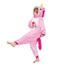 EOICIOI Pajamas for boys childrens christmas pajamas Blue Pink Unicorn Baby girls sleepwear warm pyjamas kids Pegasus onesie