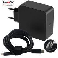 3.1 type-c 65 W UE plug mur adaptateur d'alimentation pour ordinateur portable chargeur Pour xiaomi air portable pour Macbook 12 13.3 pour dell pour Thinkpad X1