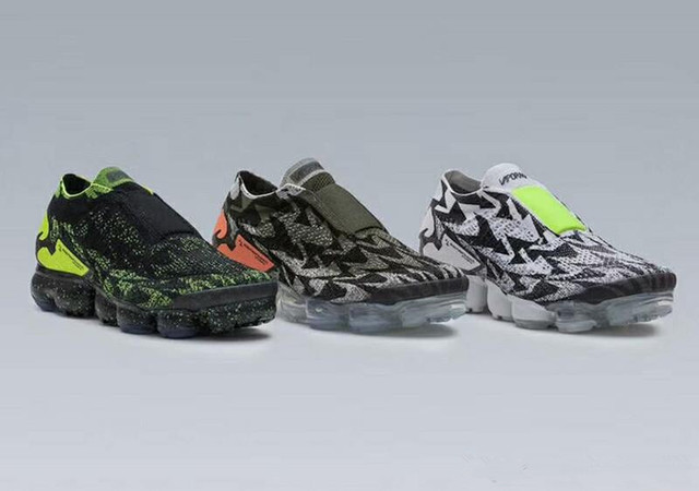 8cae13e153 2018 New ACRONYM x VAPORMAX MOC 2 Black Green Pink Mens Running Shoes For  Sale Athletic Sneakers