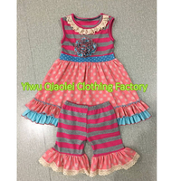 Sweat Girls Hot Selling New Design Cute Snow Man Summer Baby Outfits Boutique Girl Kids Clothing