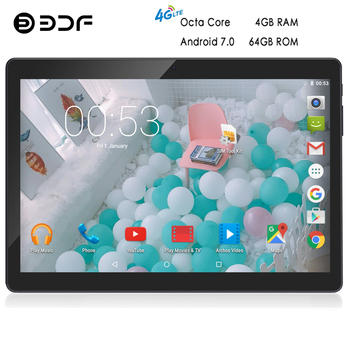 BDF 10 Inch Original 4G Phone Call Tablet Android 7.0 Octa Core CE Brand Laptop WiFi Android LTE Tablet Pc 4GB+64GB Pc Tablet 10