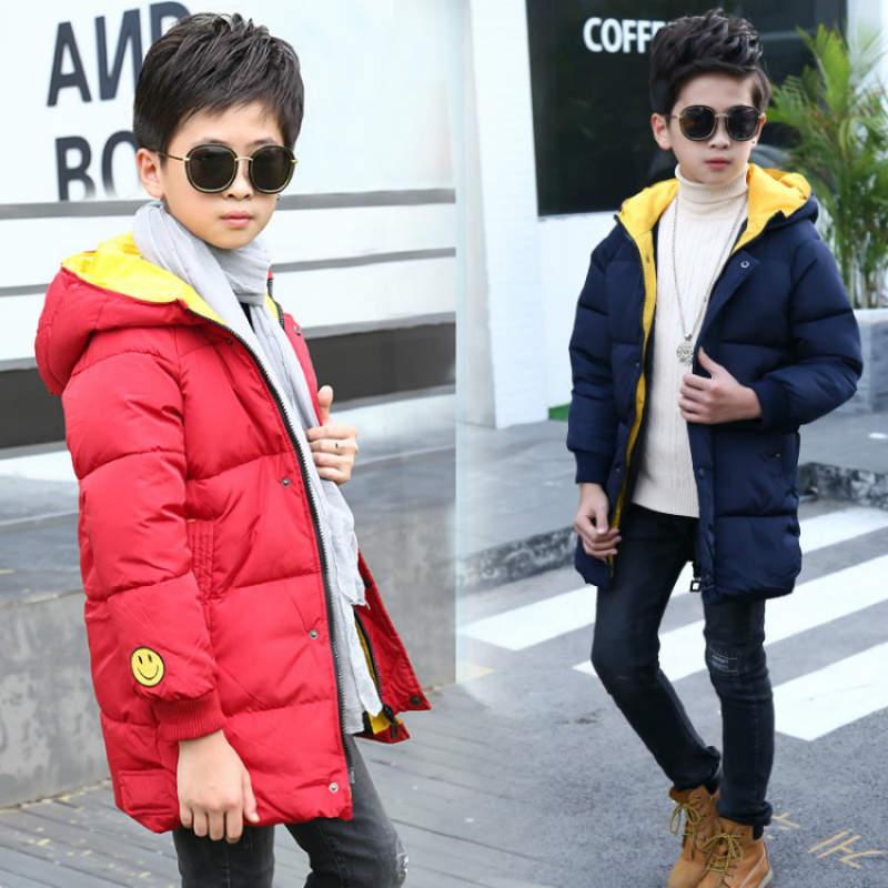 все цены на 110-170cm Children Coat Autumn Winter Kids Jacket Boys Outerwear Coats Active Boy Windbreaker Big Boys Expression Cotton Clothes