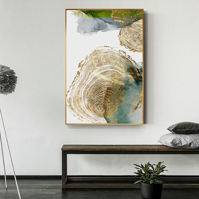 Abstract Golden Leaf Vein Painting Tableaux Big Poster Print HD Wall Art for Living Room Entrance Abstract Golden Leaf Vein Painting Tableaux Big Poster Print HD Wall Art for Living Room Entrance Aisle cuadros Salon decoracion