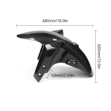 Carbon Fiber Motorcycle Front Fender Mud Mudguard Guard Cover for Yamaha MT09 FZ09 MT-09 FZ-09 2014 2015 2016 2017 цена в Москве и Питере