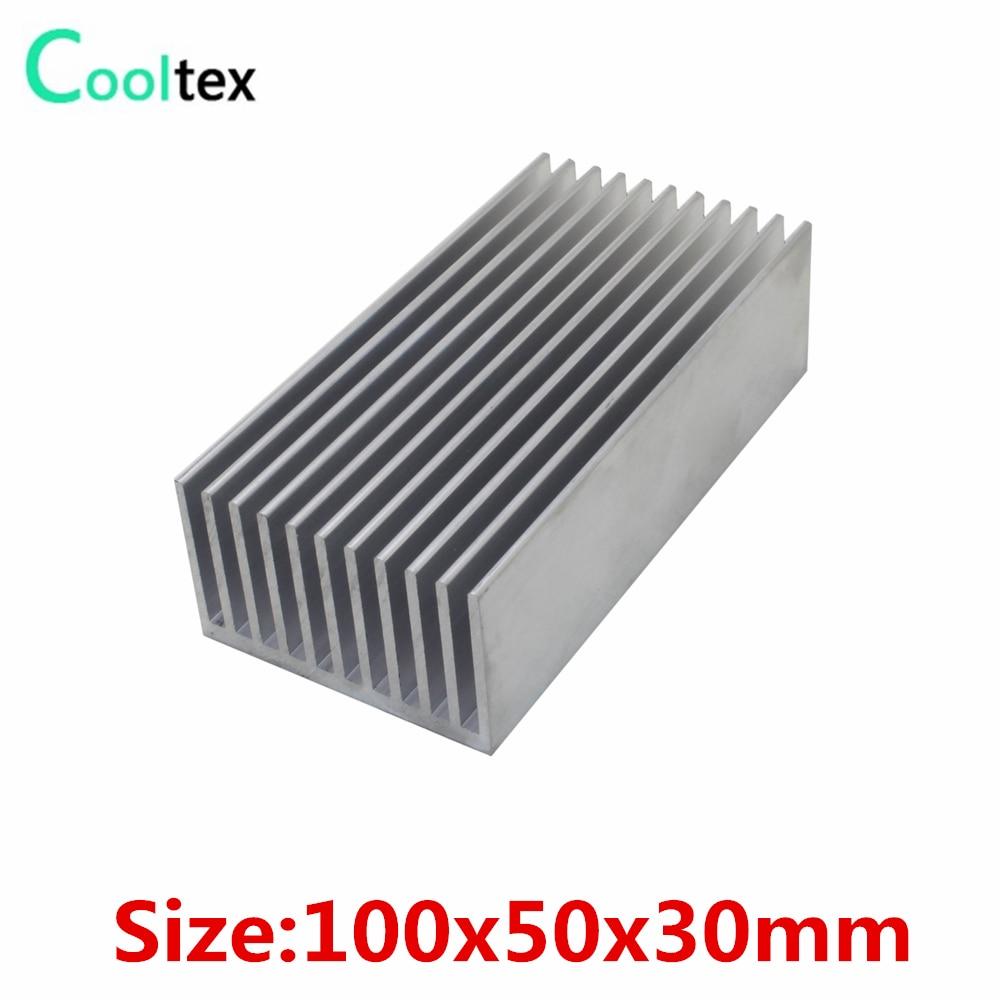 100% new 100x50x30mm Aluminum HeatSink Heat Sink radiator for DIY electronic Computer Chip RAM LED COOLER cooling