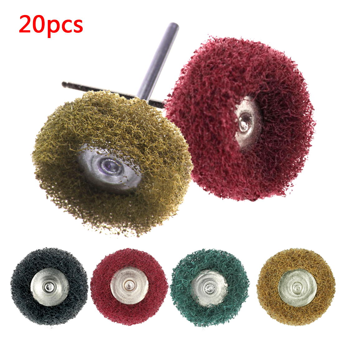 Hot 20pcs Buffing Pad Brush Polishing Wheel Jewelry Micro-Electronic Dremel Accessories For Rotary Tools Nylon Polishing Pads