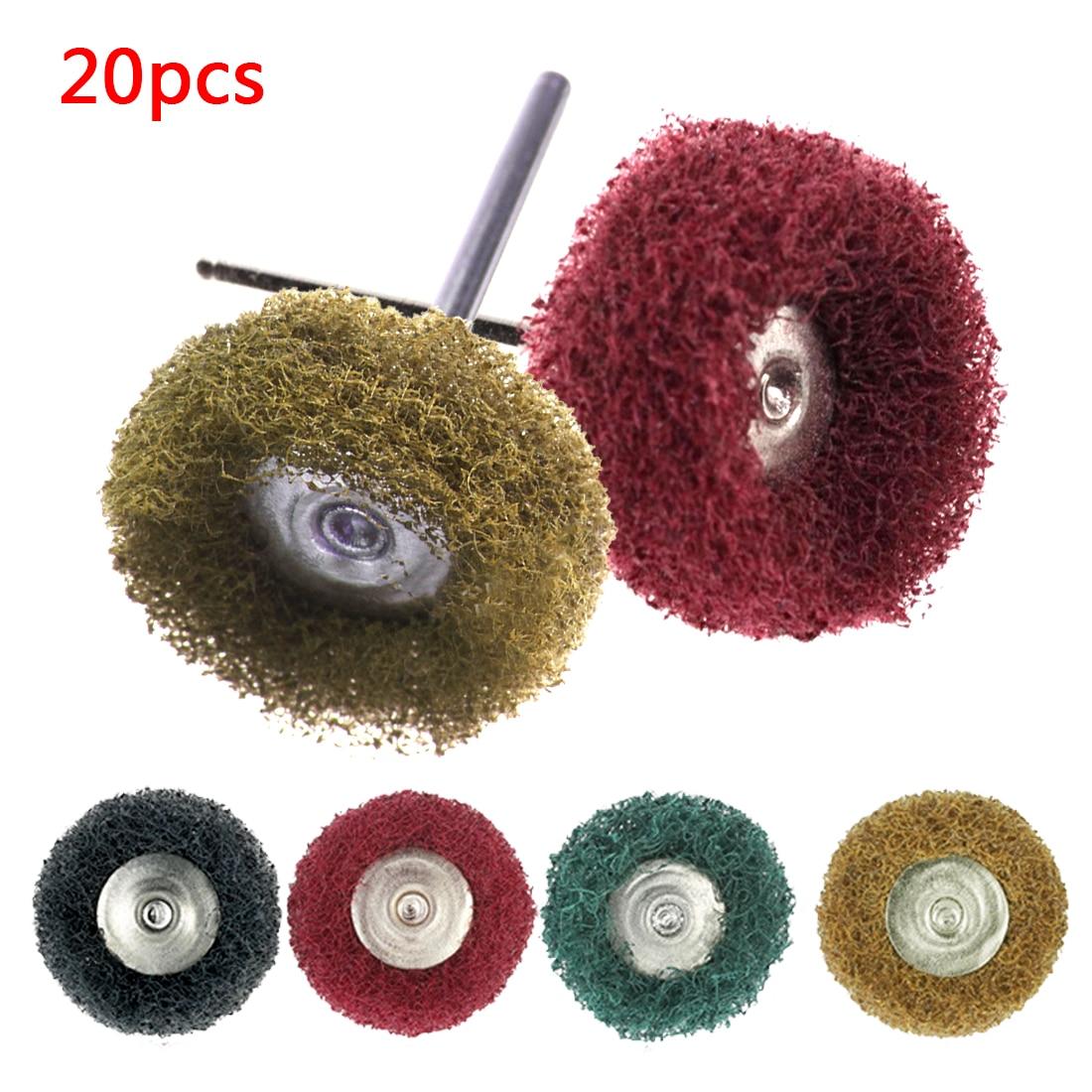 Hot 20pcs Buffing Pad Brush Polishing Wheel Jewelry Micro-Electronic Dremel Accessories For Rotary Tools Nylon Polishing Pads