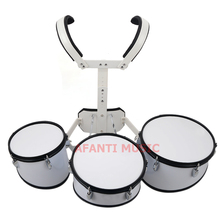 Afanti Music  3 PCS / White Marching Drum (MAD-112)