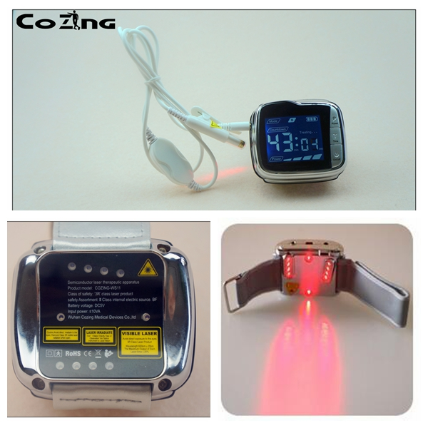 Light therapy semiconductor blood pressure wrist watch laser therapeutic  watch semiconductor blood pressure wrist watch light t newest dropshiping and wholesale black color laser light therapy to reduce high blood pressure wrist watch type
