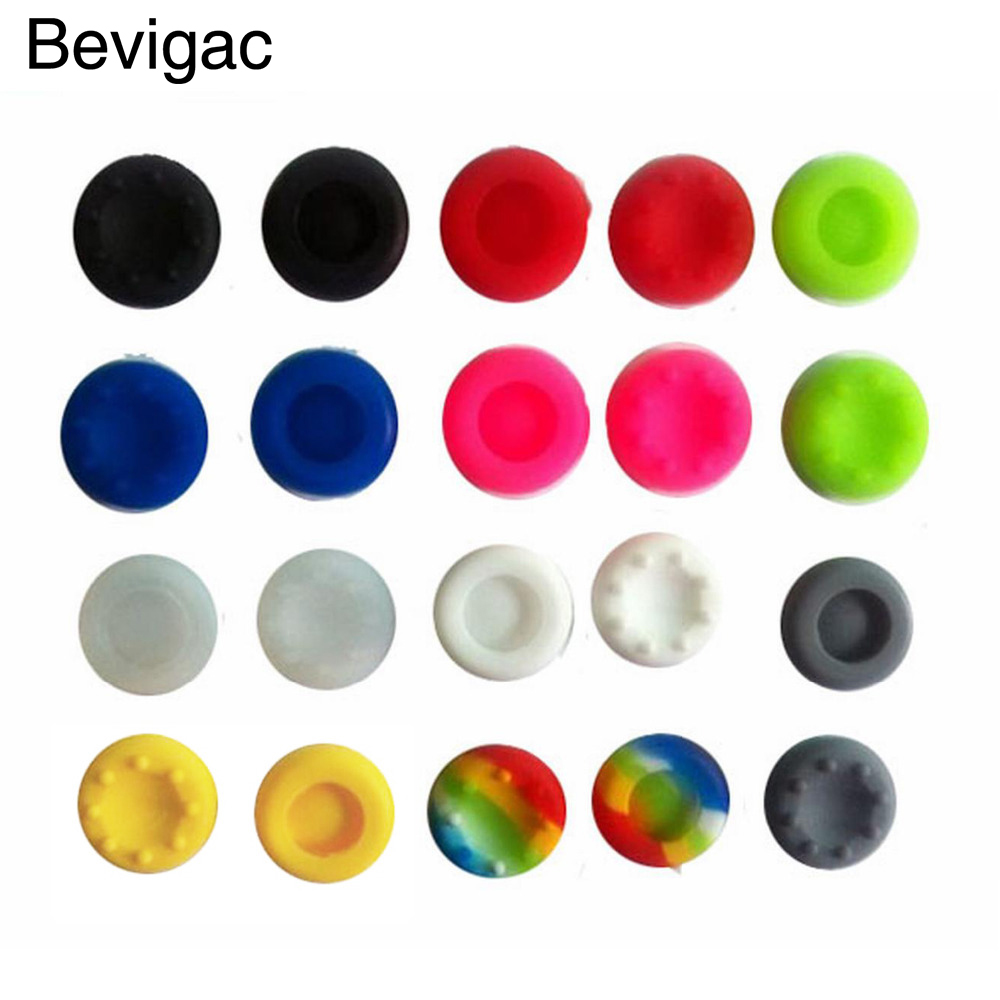 Bevigac 20PCS Silicone Controller Thumb Stick Grips Cap Cover For Sony PS4 PS Play Station 4 Dualshock Game Accessory