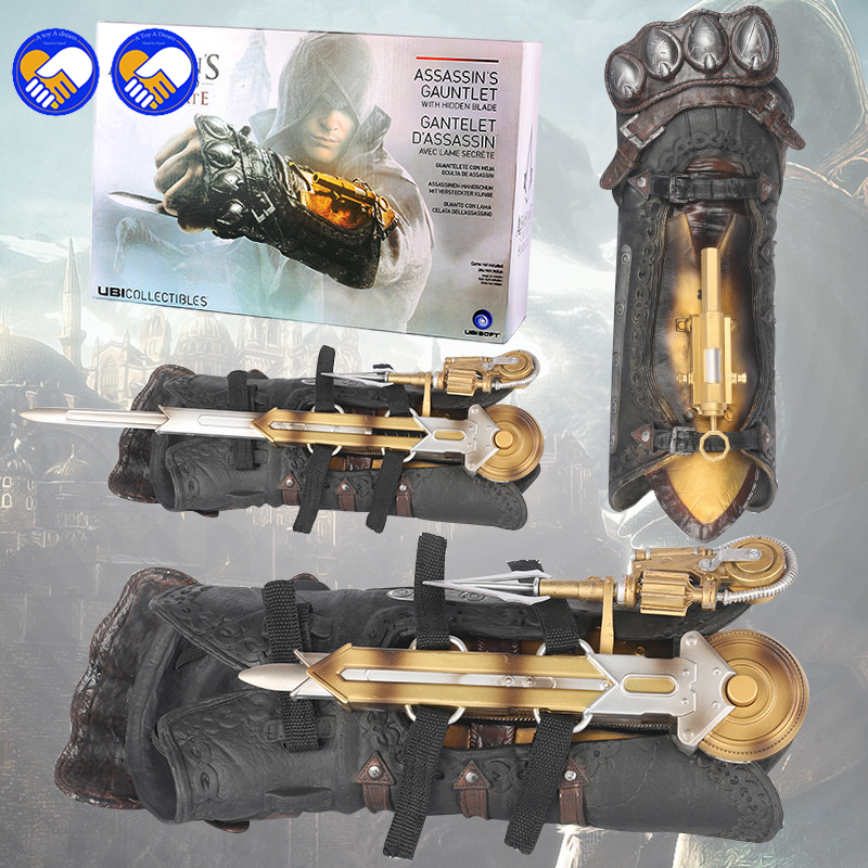A toy A dream Assassins Creed Syndicate Gauntlet with Hidden Blade Avec Lame Secrete Weapons Action Figures PVC brinquedos toys a toy a dream cosplay neca assassins creed 4 hidden blade brinquedos edward kenway juguetes pvc action figure model kids toys