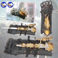Een speelgoed Een droom Assassins Creed Syndicate Gauntlet met Verborgen Blade Avec Lame Afscheiden Wapens Actiefiguren PVC brinquedos speelgoed