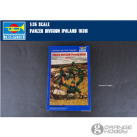 OHS Trumpeter 00404 1/35 Duitse Panzer Division Polen 1939 2e Editie Miniaturen Vergadering Militaire cijfers Model Kits oh